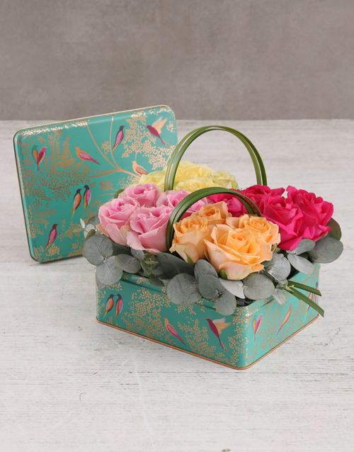 cyber-monday: Colourful Roses in Floral Box!