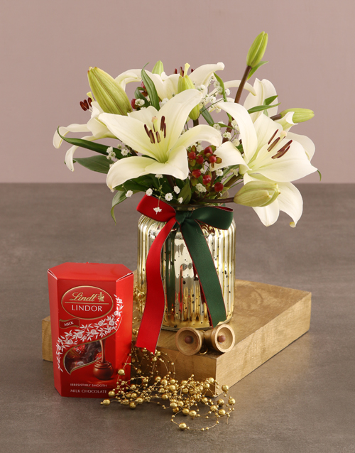 christmas: Lilies and Lindt Surprise!