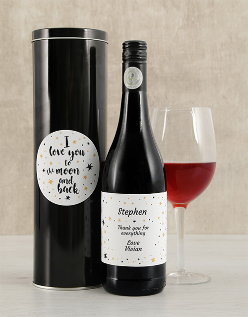 personalised: Personalised Moon and Back Wine Tin!