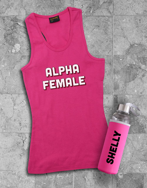 mothers-day: Personalised Alpha Waterbottle And Racerback!