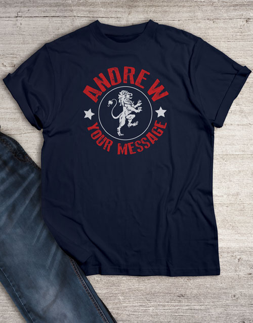 clothing: Personalised Lionheart Graphic T Shirt!