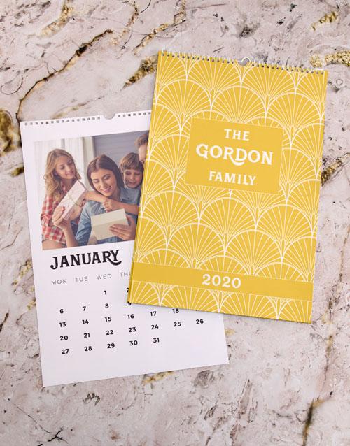 christmas: Personalised Sunshine Family Wall Calendar!
