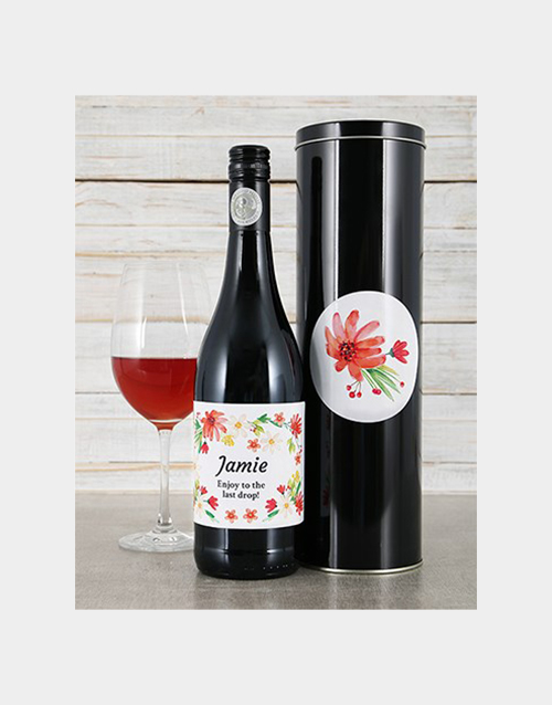 personalised: Personalised Flower Wine Tin!
