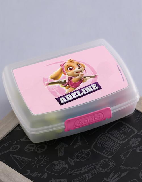 personalised: Personalised Skye Pup Lunchbox!