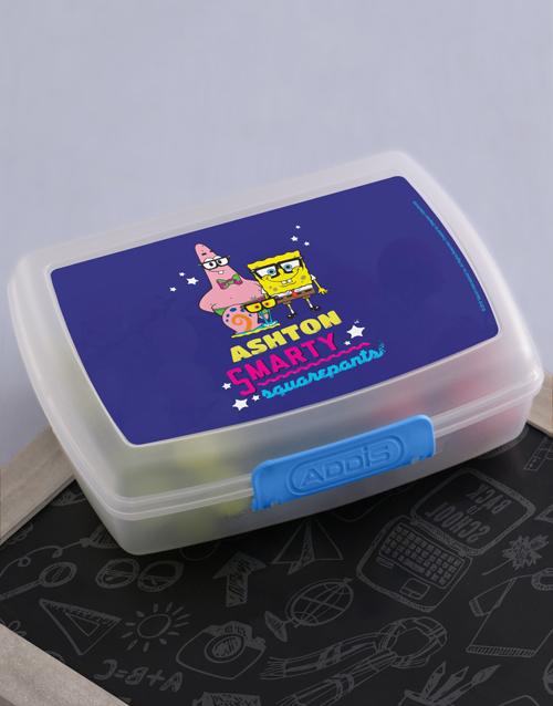 personalised: Personalised SquarePants Lunchbox!
