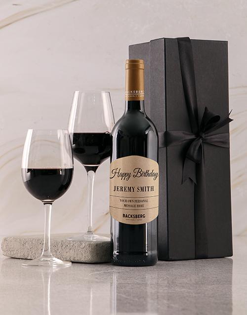 personalised: Personalised Black Happy Birthday Giftbox!
