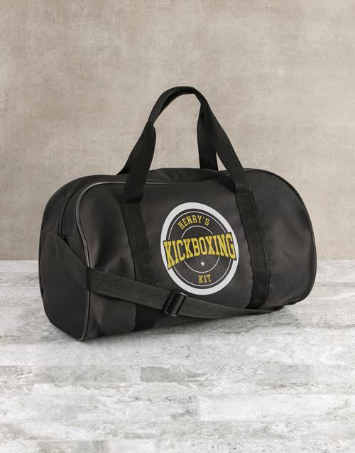 bosses-day: Personalised Black Kit Bag!