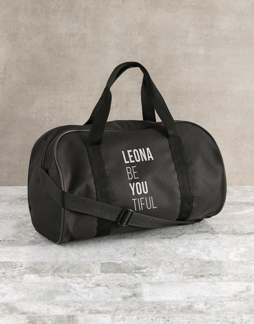 bosses-day: Personalised Be You Tiful Black Gym Bag!