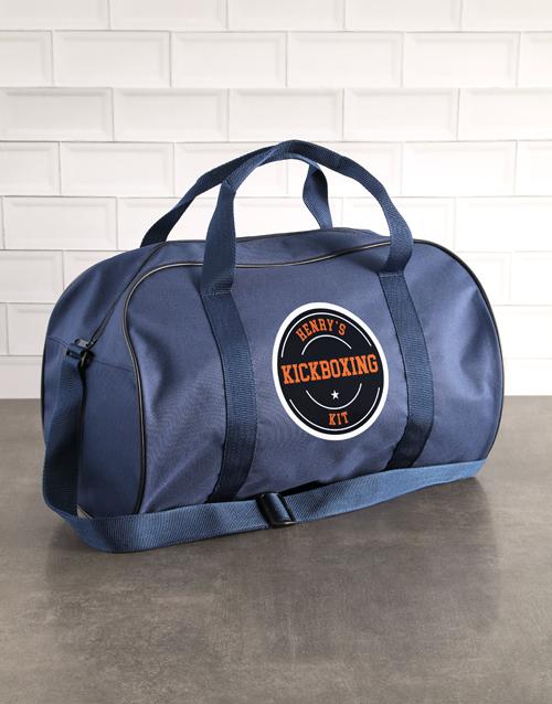 bosses-day: Personalised Navy Kit Bag!
