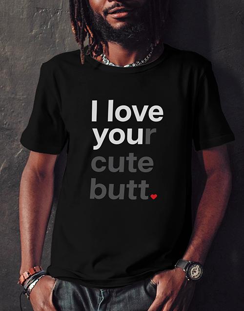 clothing: Personalised Love You Black Tshirt!