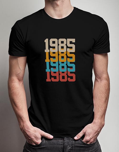 personalised: Personalised Retro Year T Shirt!
