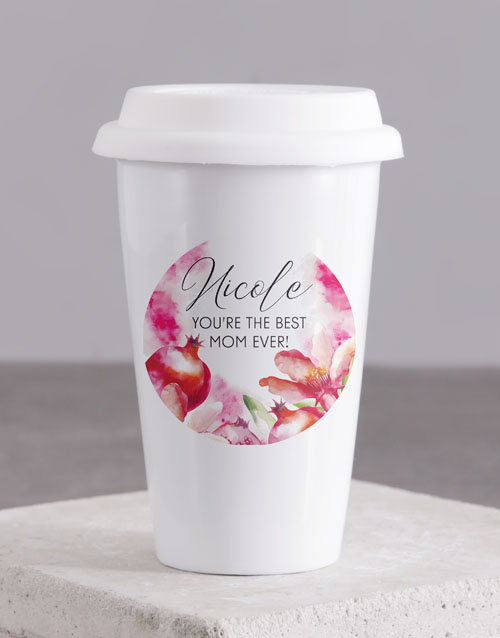 personalised: Personalised Best Mom Travel Mug!