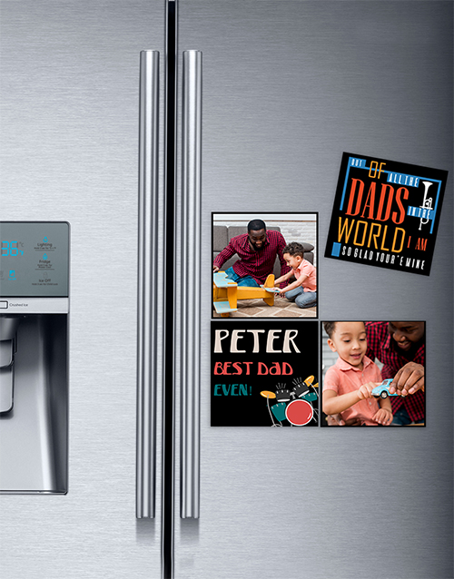 fathers-day: Personalised Best In The World Photo Magnets!