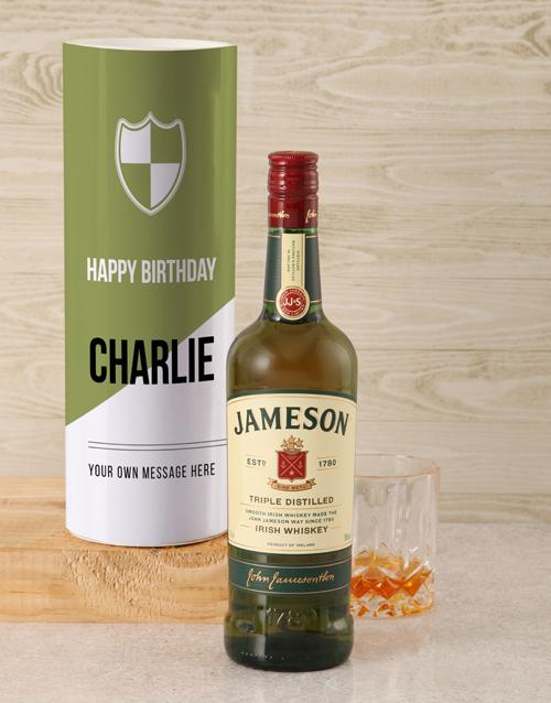 personalised: Personalised Jameson Whiskey Modern Tube!