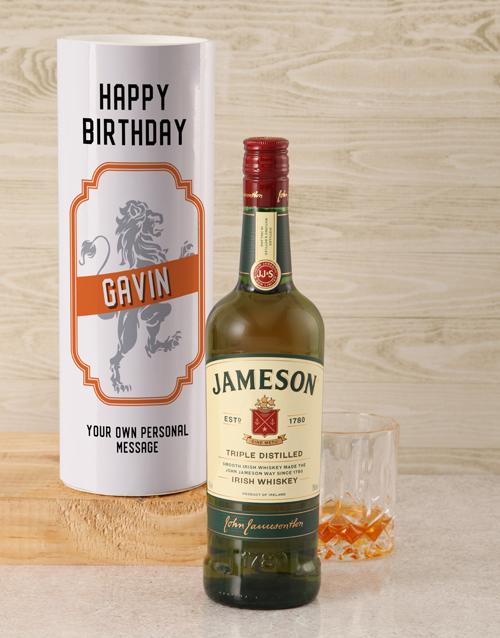 personalised: Personalised Jameson Whiskey Lion Tube!