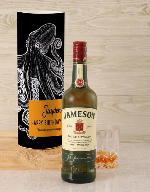 personalised: Personalised Jameson Whiskey Kraken Tube!
