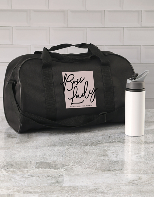 mothers-day: Personalised Boss Lady Gym Bag!