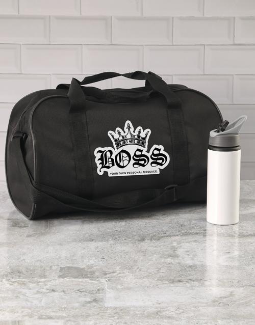 personalised: Personalised Royal Boss Gym Bag!