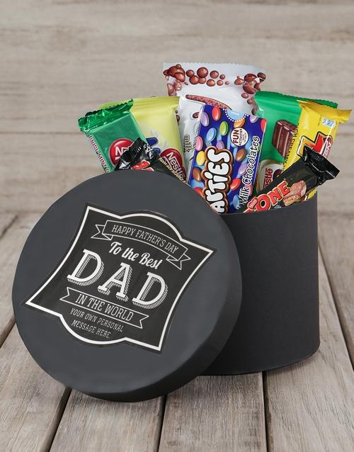 personalised: Personalised Best Dad Choc Hat Box!