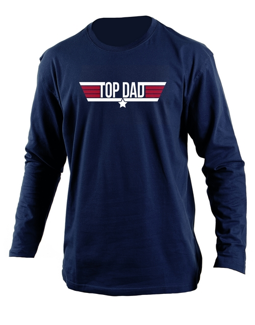 fathers-day: Personalised Top Dad Longsleeve T Shirt!