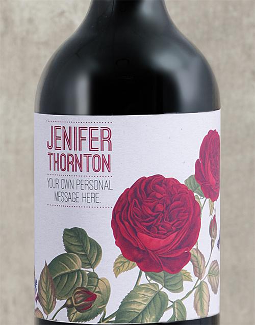 personalised: Personalised Rose Rage Wine!