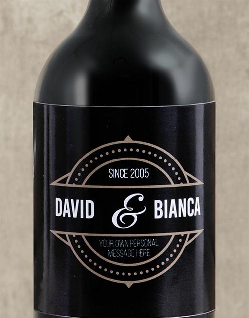 personalised: Personalised Vintage His and Hers Wine!
