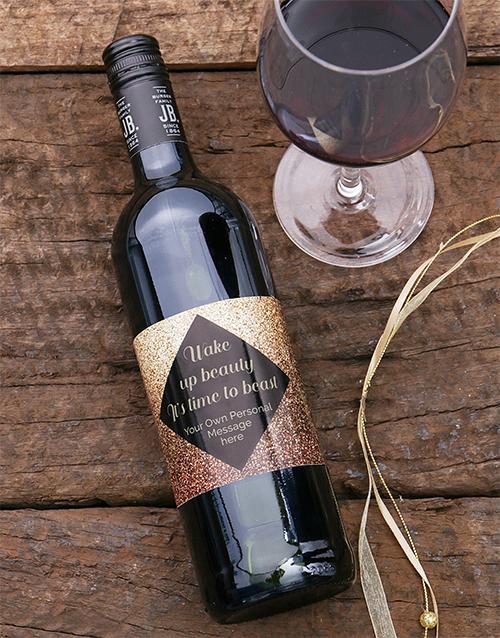 cyber-monday: Personalised Wake Up Beauty Wine!