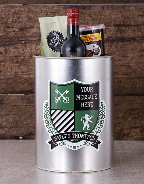 gourmet: Personalised Coat of Arms Bro Bucket!