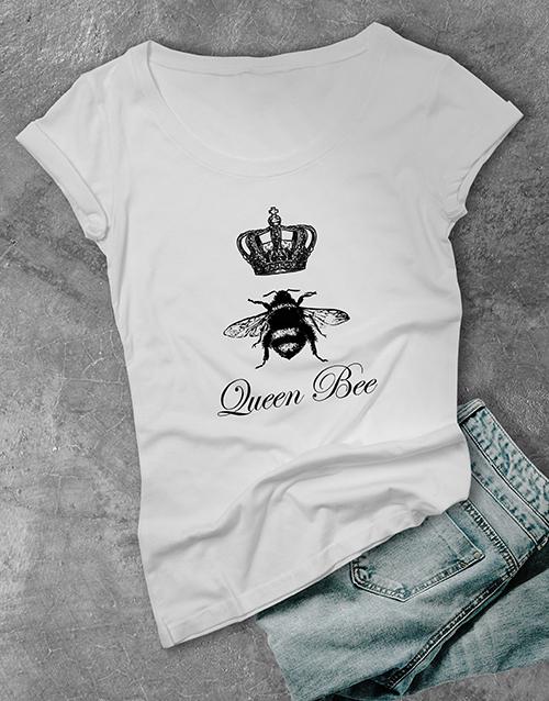 personalised: Queen Bee Ladies T Shirt!