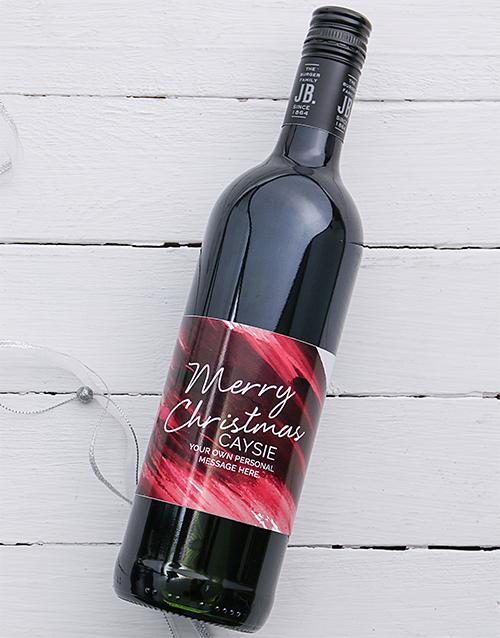 personalised: Personalised Christmas Brushstroke Wine!