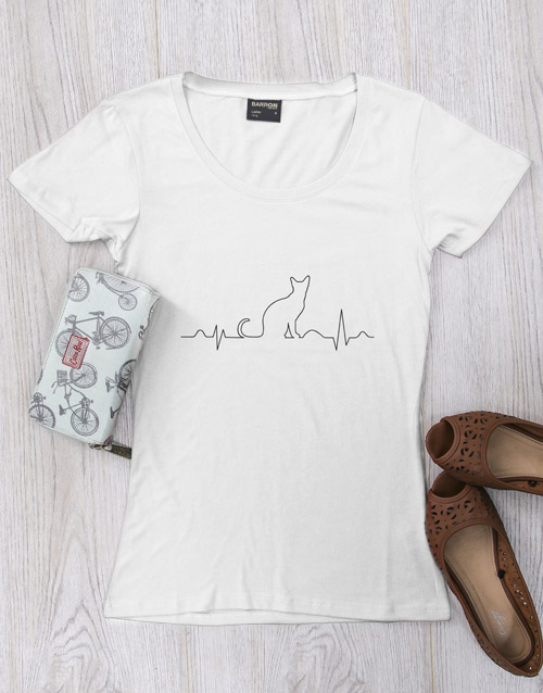 clothing: Personalised Cat Heartbeat Shirt!