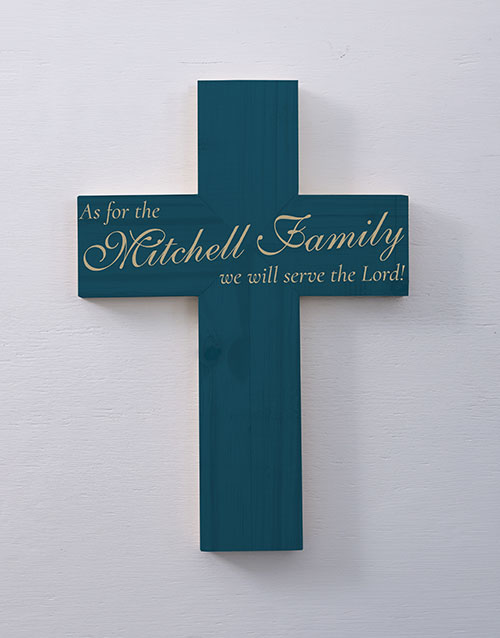 christmas: Personalised Serve The Lord Cross Wall Art!