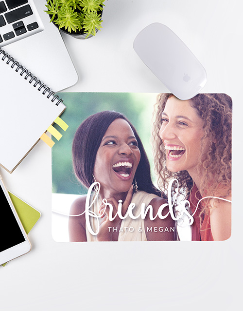 friendship: Personalised Friends Photo Mouse Pad!