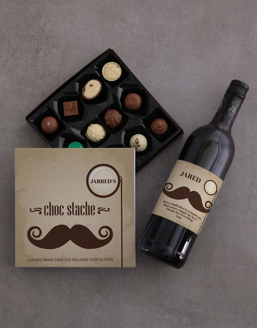personalised: Choc Stache of Personalised Chocolate!