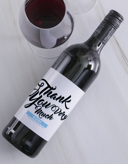 personalised: Personalised Thank You Wine!