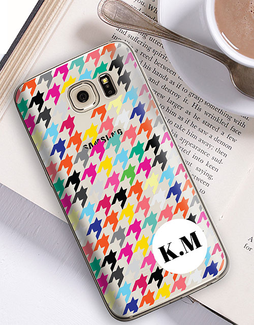 new-years: Personalised Houndstooth Samsung Cover!