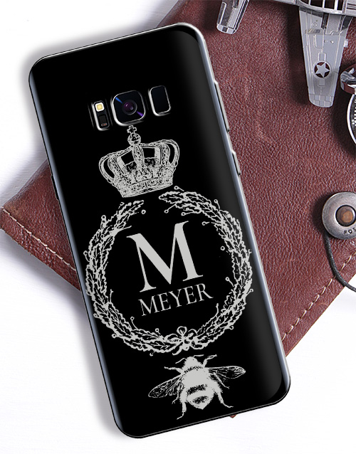 gadgets: Personalised Crown Wreath Samsung Cover!