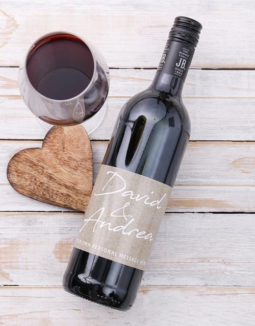personalised: Personalised Couples Signature Wine!