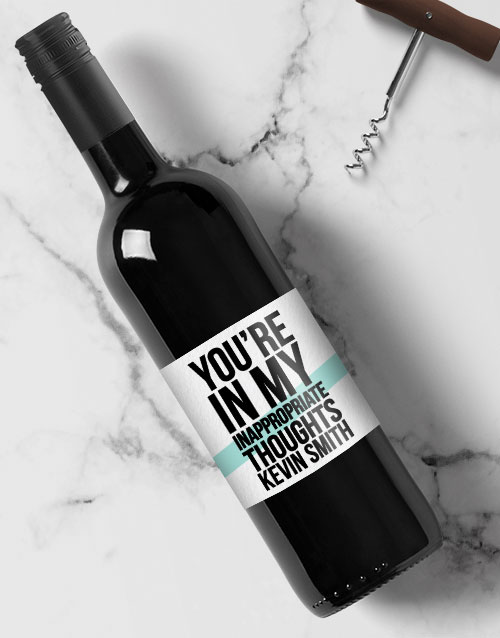 personalised: Personalised Inappropriate Wine!