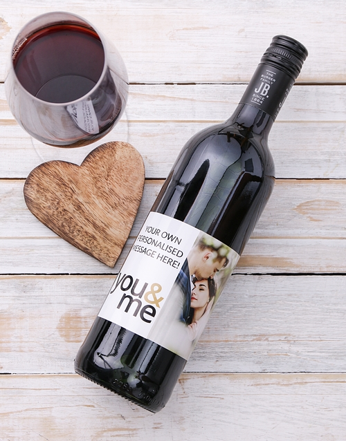 valentines-day: Personalised You and Me Photo Wine!