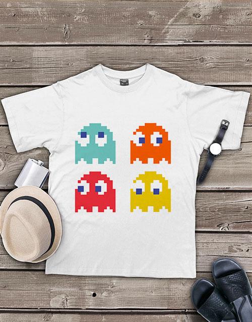 clothing: Personalised Pacman Team T Shirt!