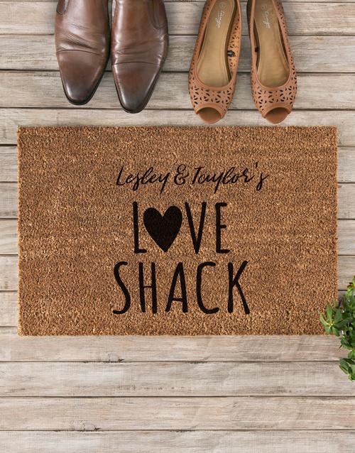 valentines-day: Personalised Love Shack Doormat!