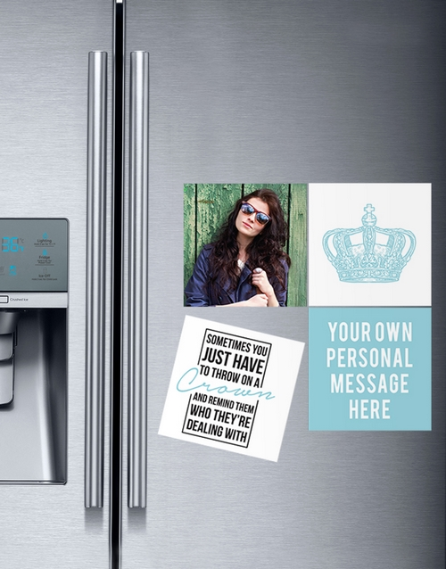 home-decor: Personalised Wear Your Crown Magnets!
