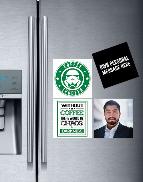 fathers-day: Personalised Coffee Lover Magnets!