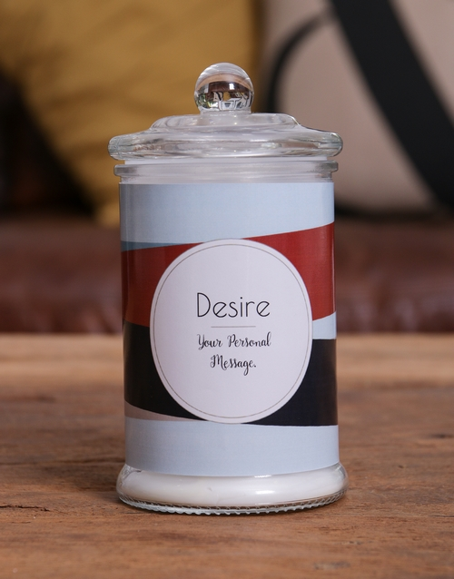 prices: Personalised Striped Candle Jar!