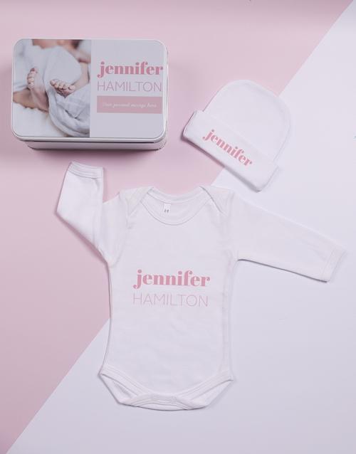 apparel: Personalised Keepsake Photo Girl Tin Gift Set!