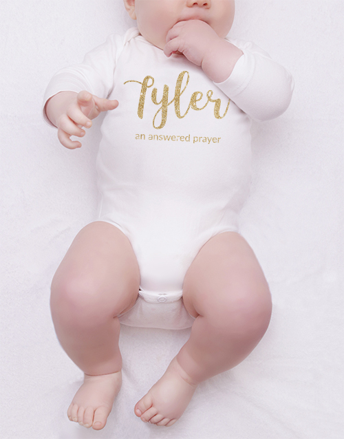 apparel: Personalised Glitter Name Onesie!