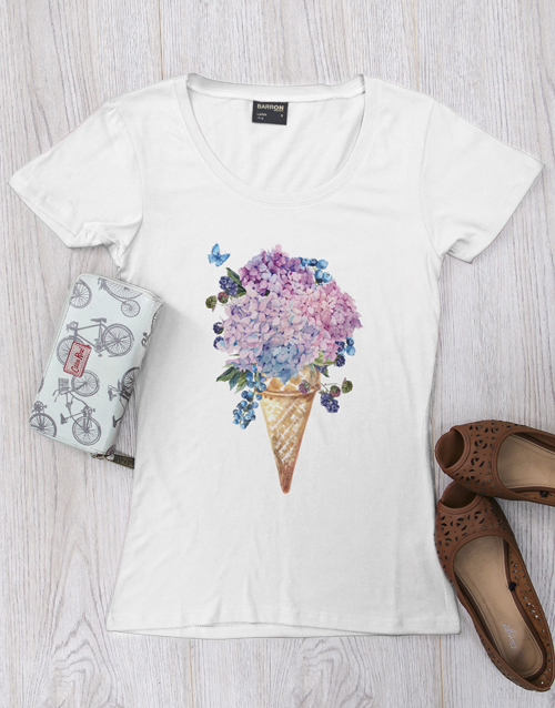 clothing: Personalised Floral Cone Ladies Shirt!