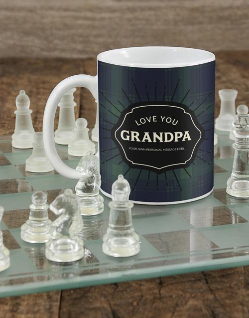 fathers-day: Personalised Plaid Grandpa Mug!