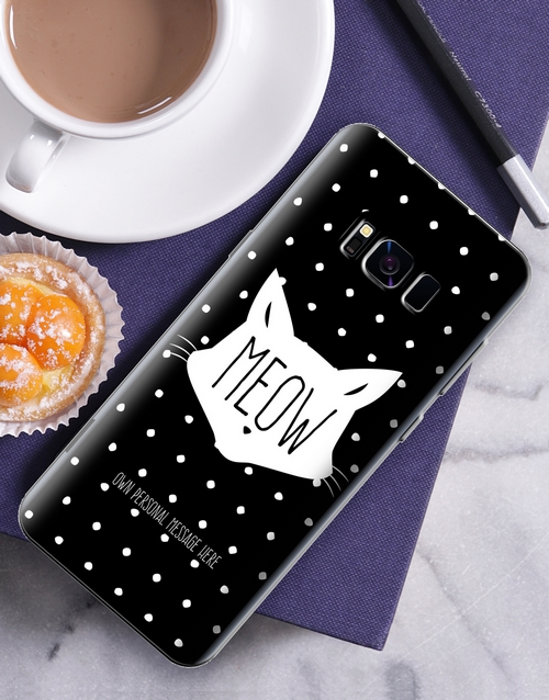 personalised: Personalised Meow Samsung Cover!